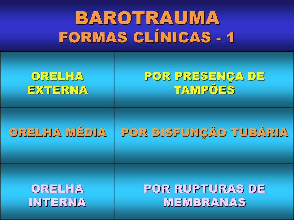 BAROTRAUMA FORMAS CLÍNICAS - 1