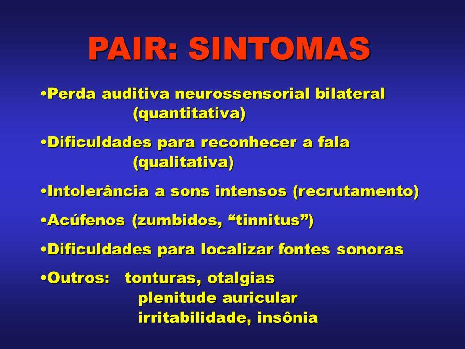 PAIR: SINTOMAS Perda auditiva neurossensorial bilateral (quantitativa)