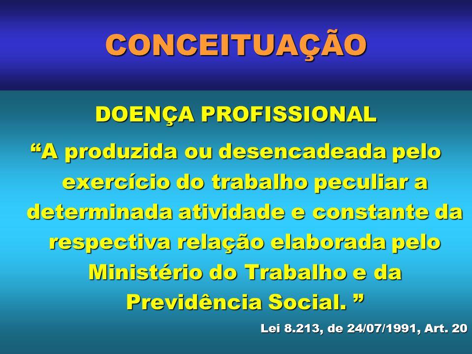 CONCEITUAÇÃO DOENÇA PROFISSIONAL