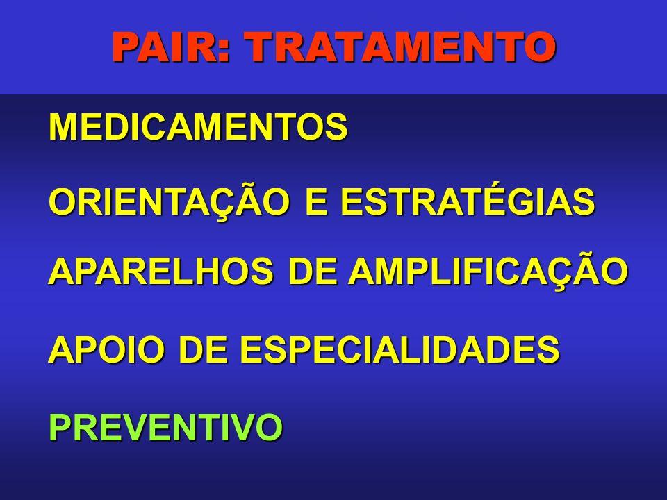 PAIR: TRATAMENTO MEDICAMENTOS