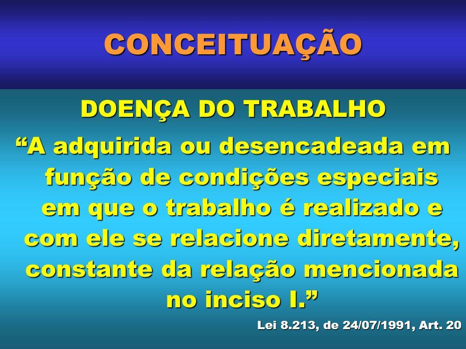 CONCEITUAÇÃO DOENÇA DO TRABALHO