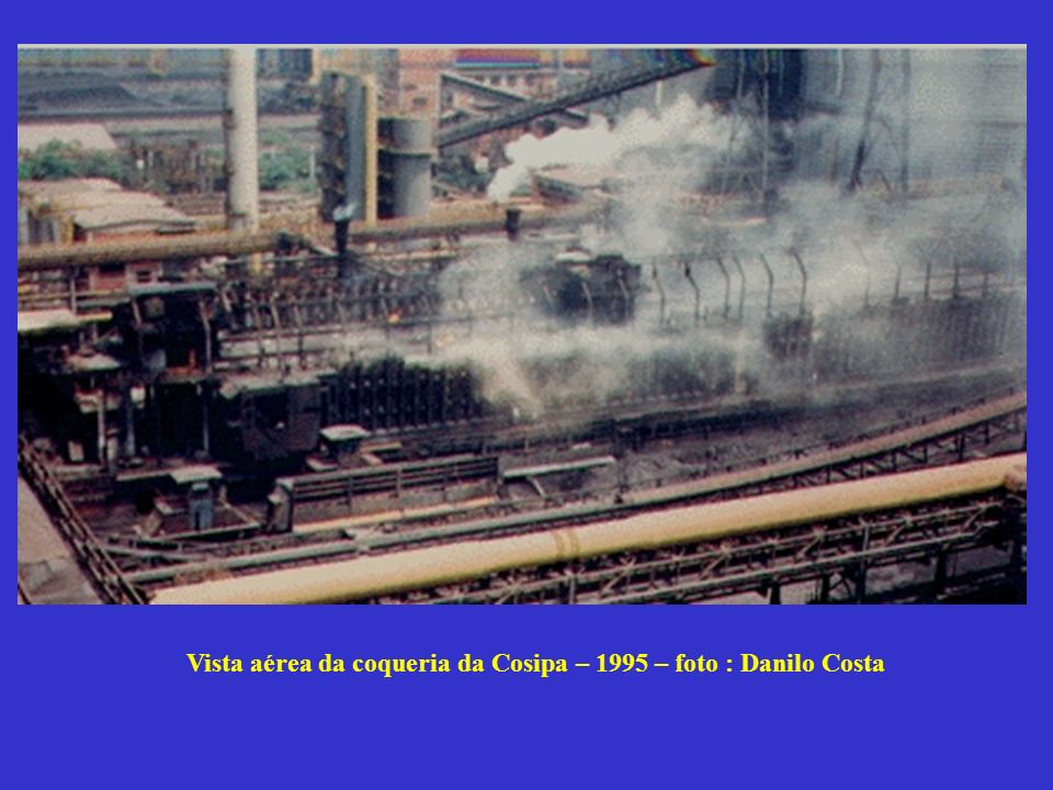 Vista aérea da coqueria da Cosipa – 1995 – foto : Danilo Costa