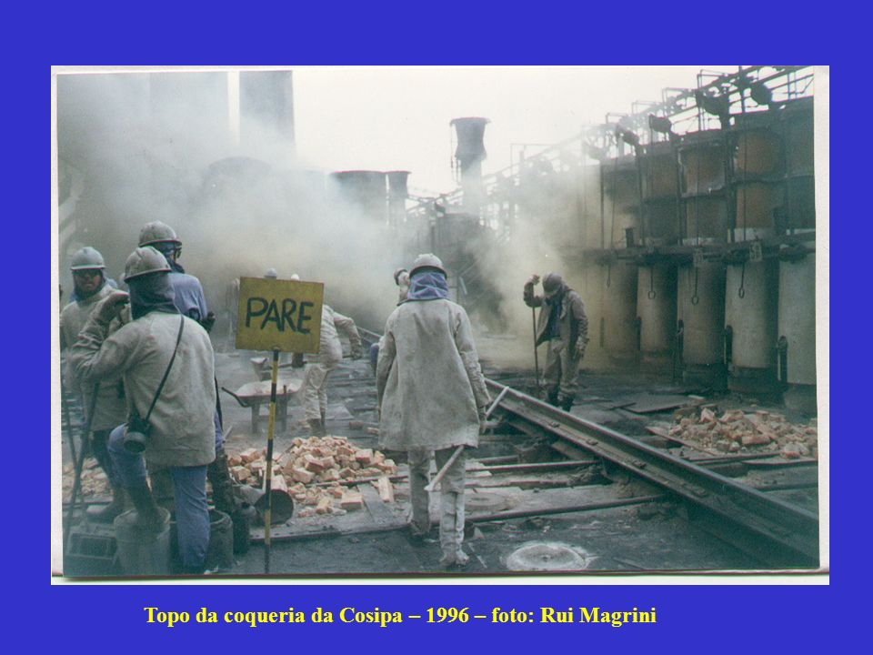 Topo da coqueria da Cosipa – 1996 – foto: Rui Magrini