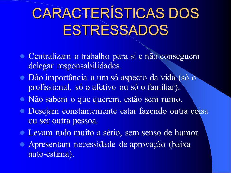 CARACTERÍSTICAS DOS ESTRESSADOS