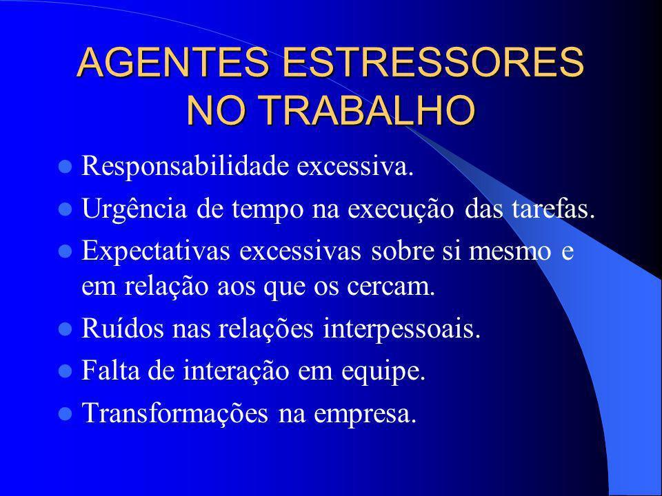 AGENTES ESTRESSORES NO TRABALHO
