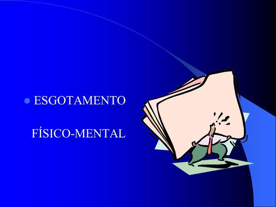 ESGOTAMENTO FÍSICO-MENTAL