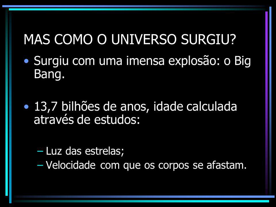 MAS COMO O UNIVERSO SURGIU