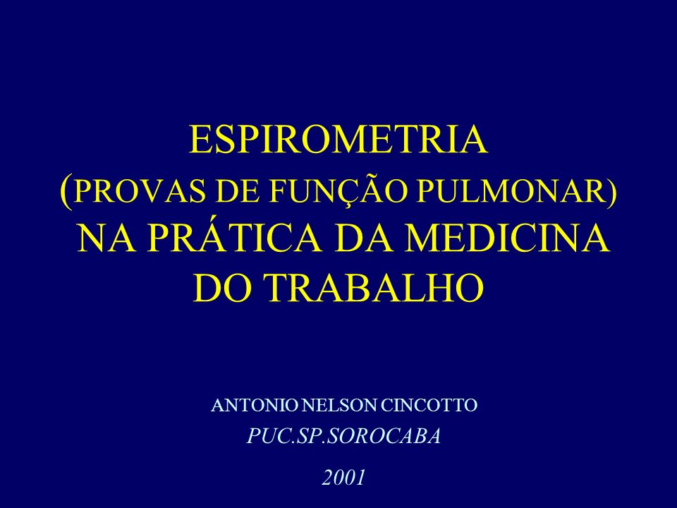 ANTONIO NELSON CINCOTTO PUC.SP.SOROCABA 2001
