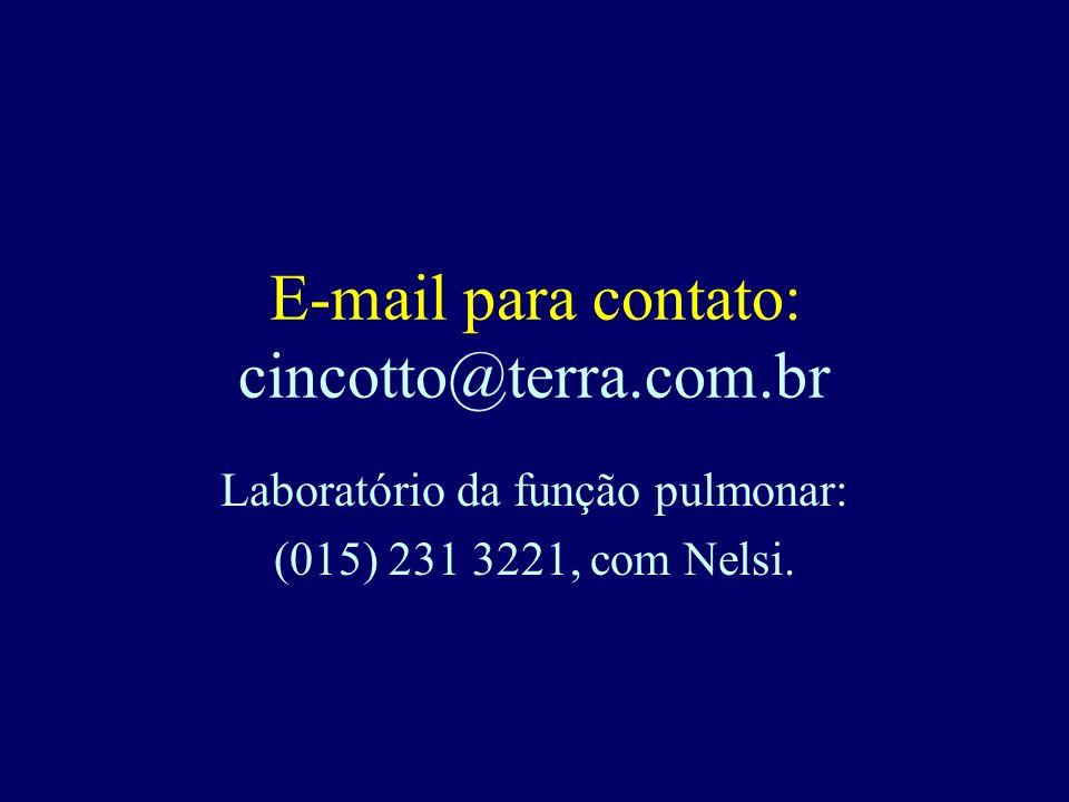 E-mail para contato: cincotto@terra.com.br