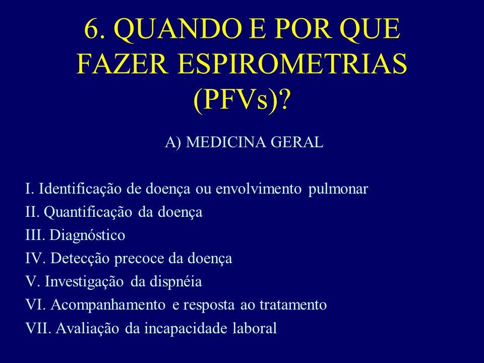 6. QUANDO E POR QUE FAZER ESPIROMETRIAS (PFVs)