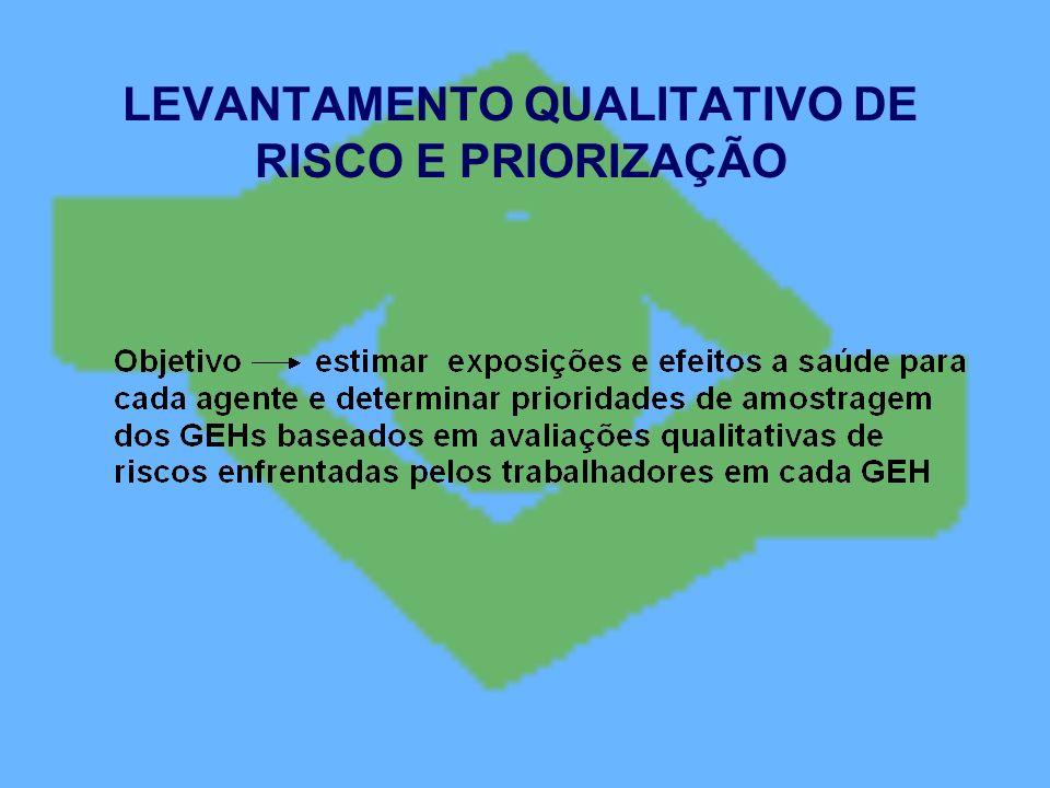 LEVANTAMENTO QUALITATIVO DE RISCO E PRIORIZAÇÃO