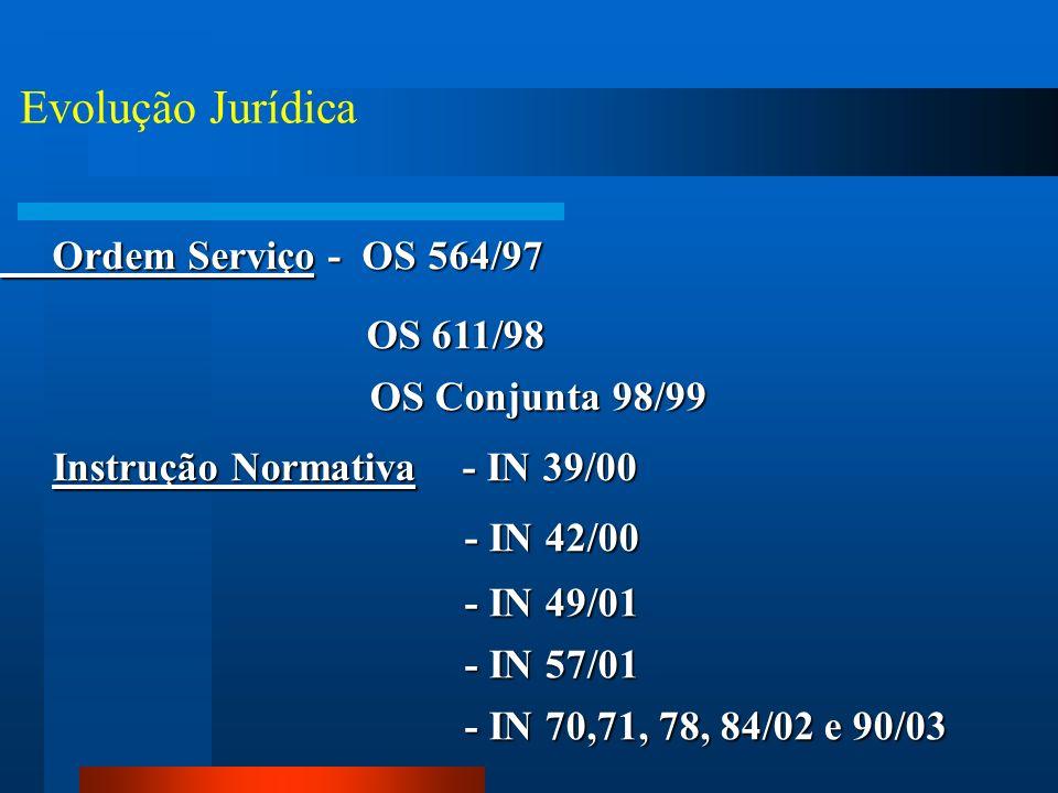 Evolução Jurídica Ordem Serviço - OS 564/97 OS 611/98