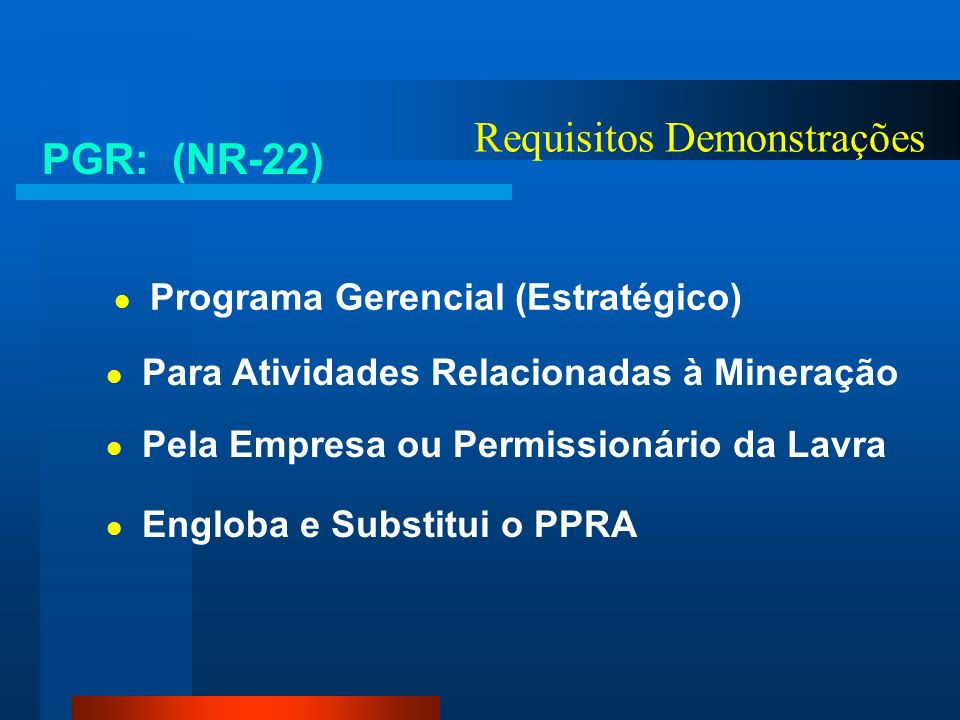 Requisitos Demonstrações