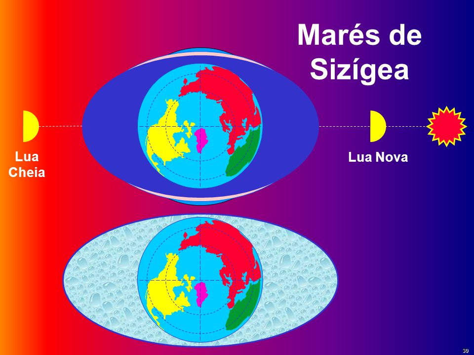Marés de Sizígea Lua Cheia Lua Nova