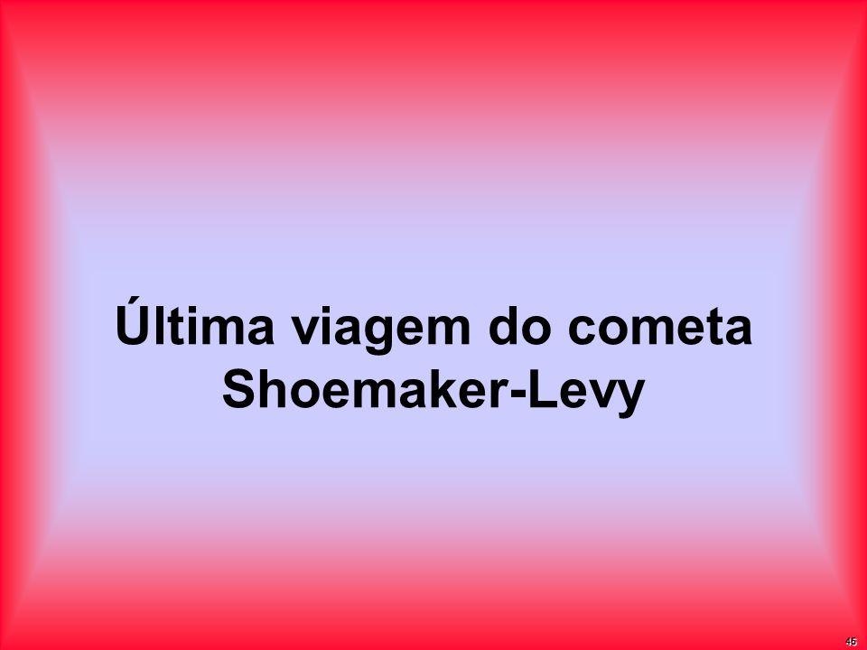 Última viagem do cometa Shoemaker-Levy