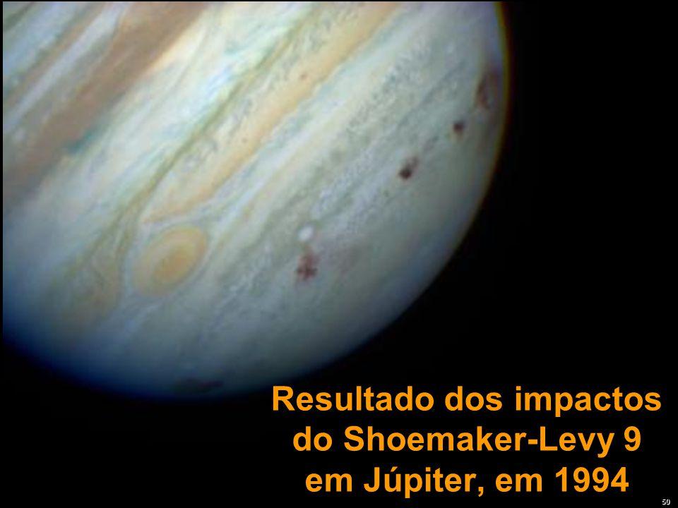 Resultado dos impactos do Shoemaker-Levy 9 em Júpiter, em 1994
