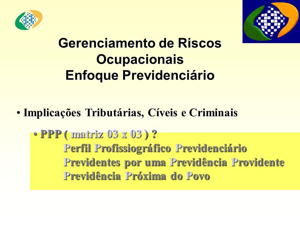 Gerenciamento de Riscos Ocupacionais Enfoque Previdenciário
