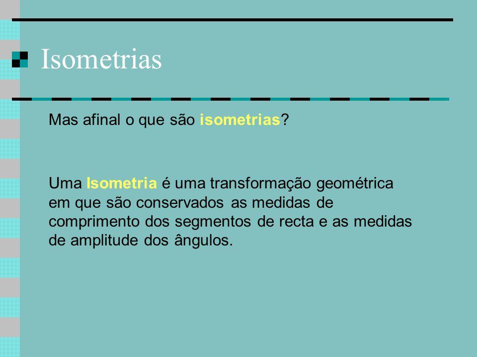 Isometrias Mas afinal o que são isometrias
