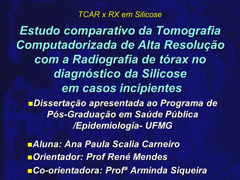 Estudo comparativo da Tomografia Computadorizada de Alta Resolução com a Radiografia de tórax no diagnóstico da Silicose em casos incipientes