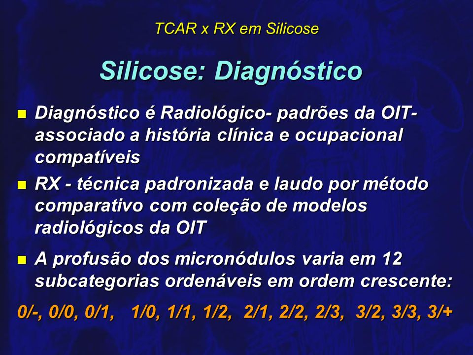 Silicose: Diagnóstico