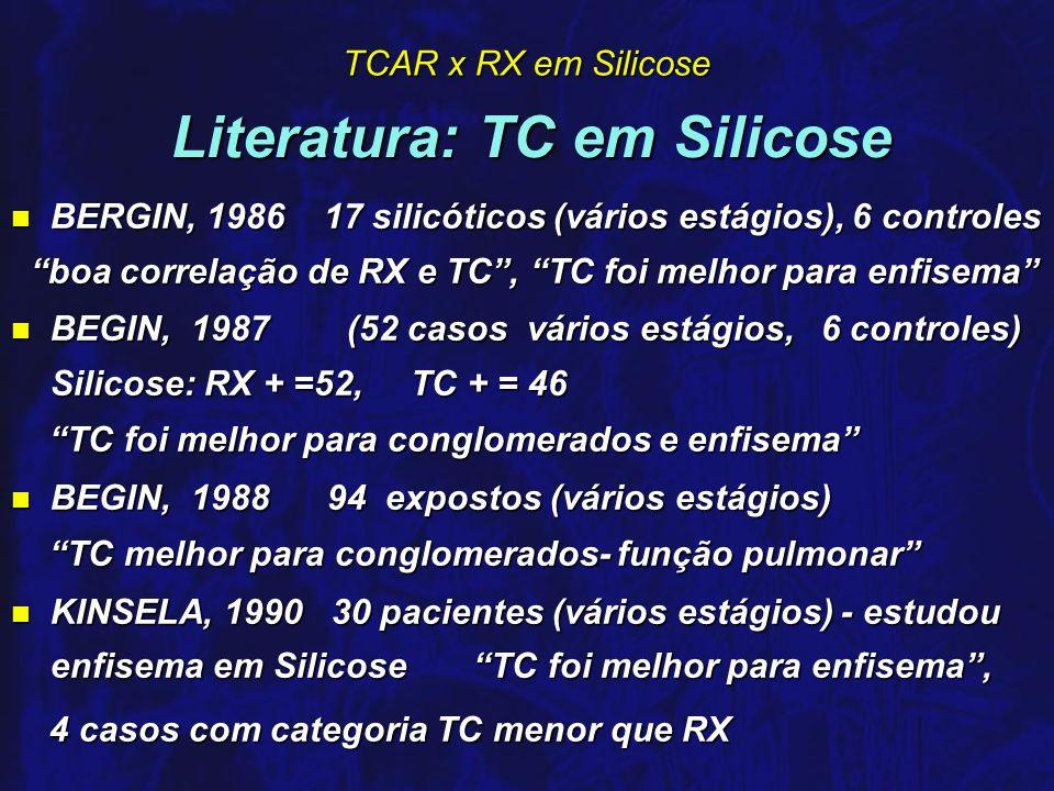 Literatura: TC em Silicose