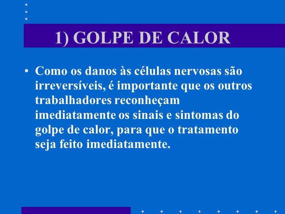 1) GOLPE DE CALOR