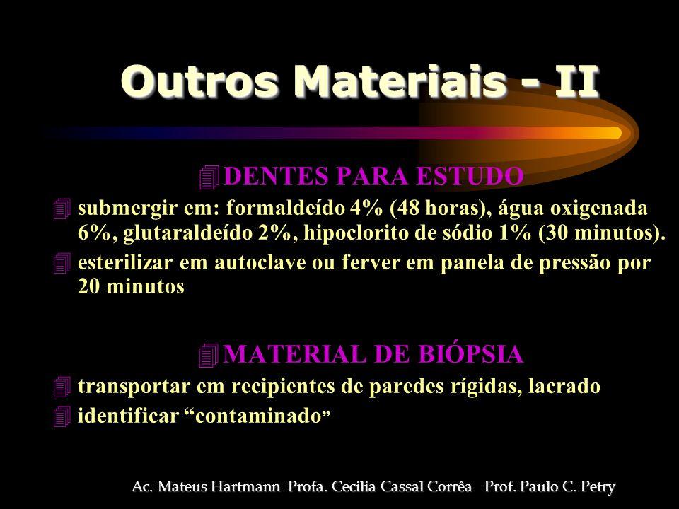 Ac. Mateus Hartmann Profa. Cecilia Cassal Corrêa Prof. Paulo C. Petry