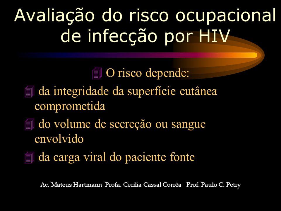 Avaliação do risco ocupacional de infecção por HIV
