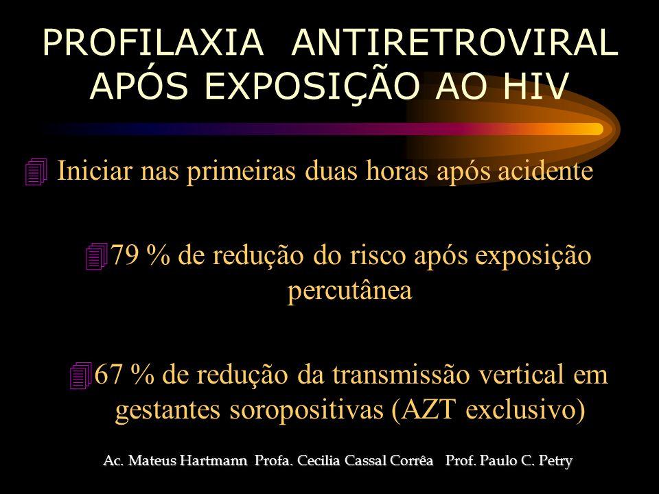 PROFILAXIA ANTIRETROVIRAL APÓS EXPOSIÇÃO AO HIV