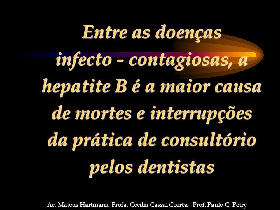 infecto - contagiosas, a hepatite B é a maior causa