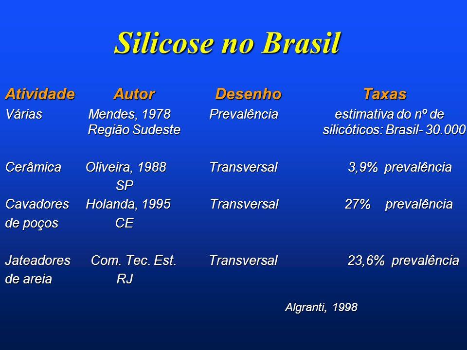 Silicose no Brasil Atividade Autor Desenho Taxas