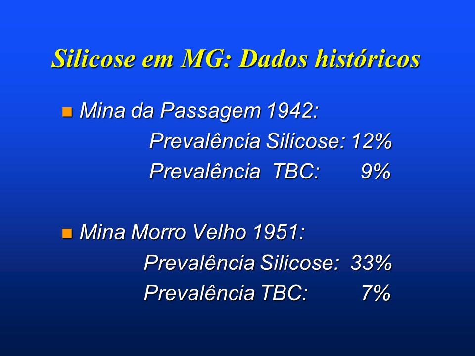 Silicose em MG: Dados históricos
