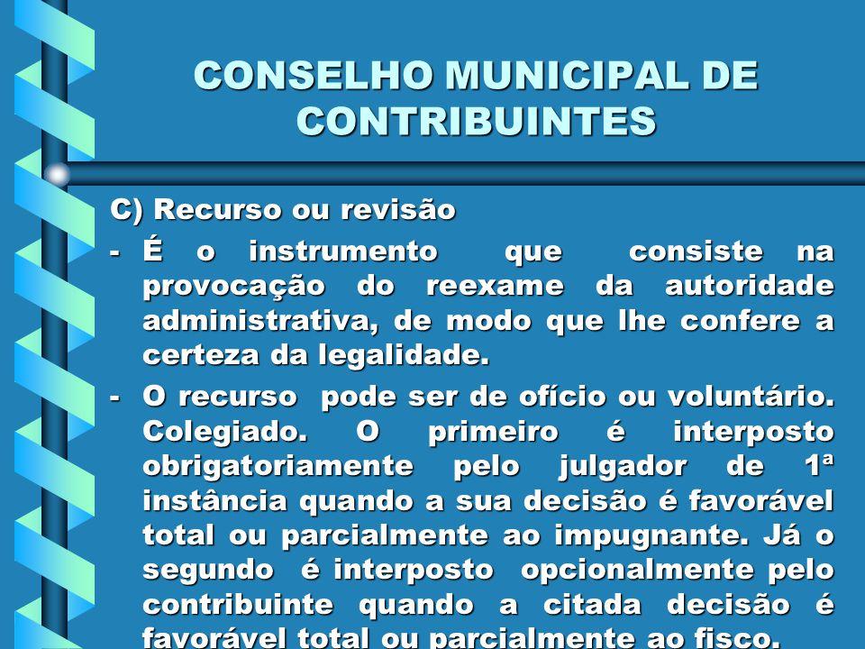 CONSELHO MUNICIPAL DE CONTRIBUINTES