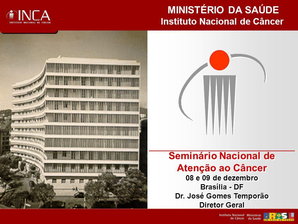 Instituto Nacional de Câncer Seminário Nacional de Atenção ao Câncer