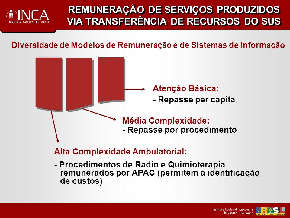 REMUNERAÇÃO DE SERVIÇOS PRODUZIDOS VIA TRANSFERÊNCIA DE RECURSOS DO SUS