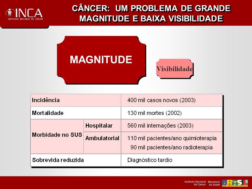 CÂNCER: UM PROBLEMA DE GRANDE MAGNITUDE E BAIXA VISIBILIDADE