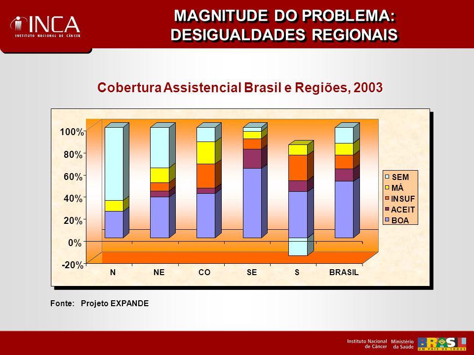 MAGNITUDE DO PROBLEMA: DESIGUALDADES REGIONAIS