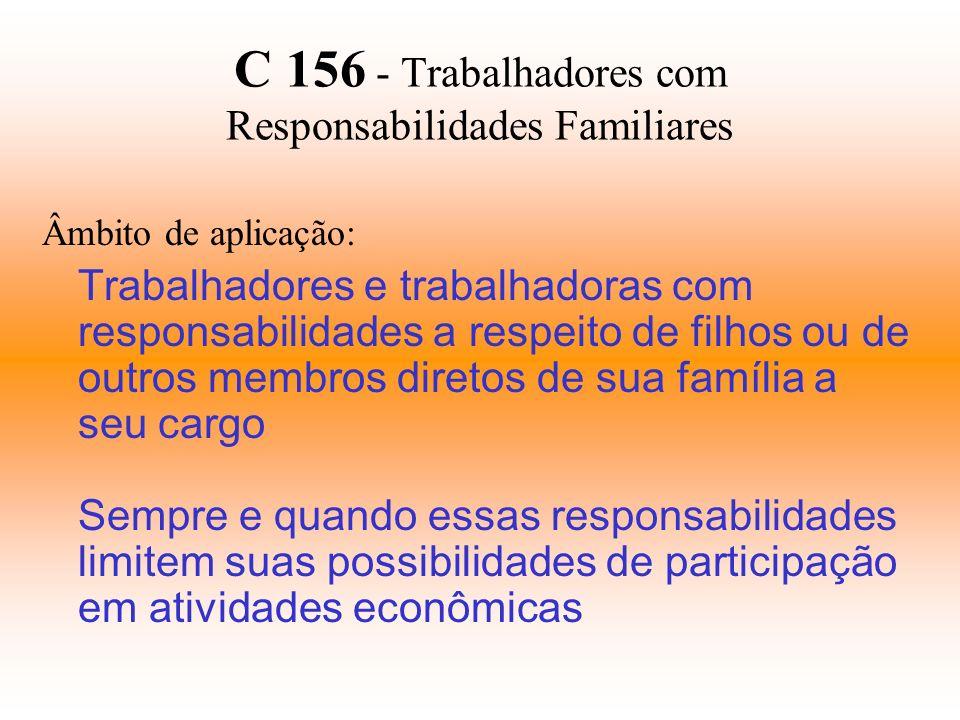C 156 - Trabalhadores com Responsabilidades Familiares
