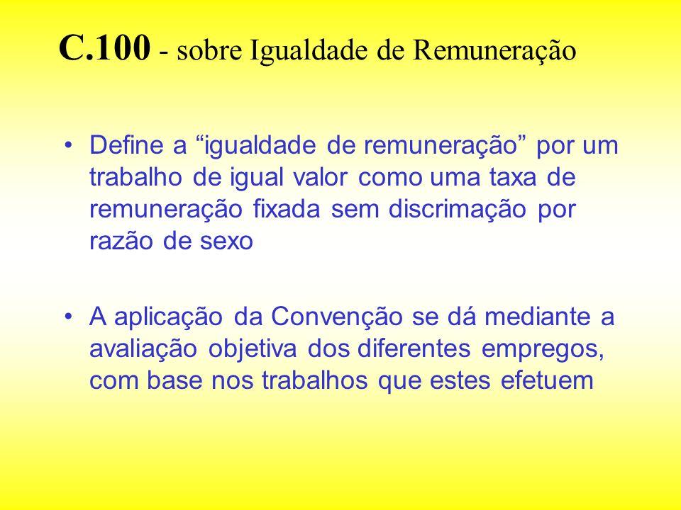 C.100 - sobre Igualdade de Remuneração