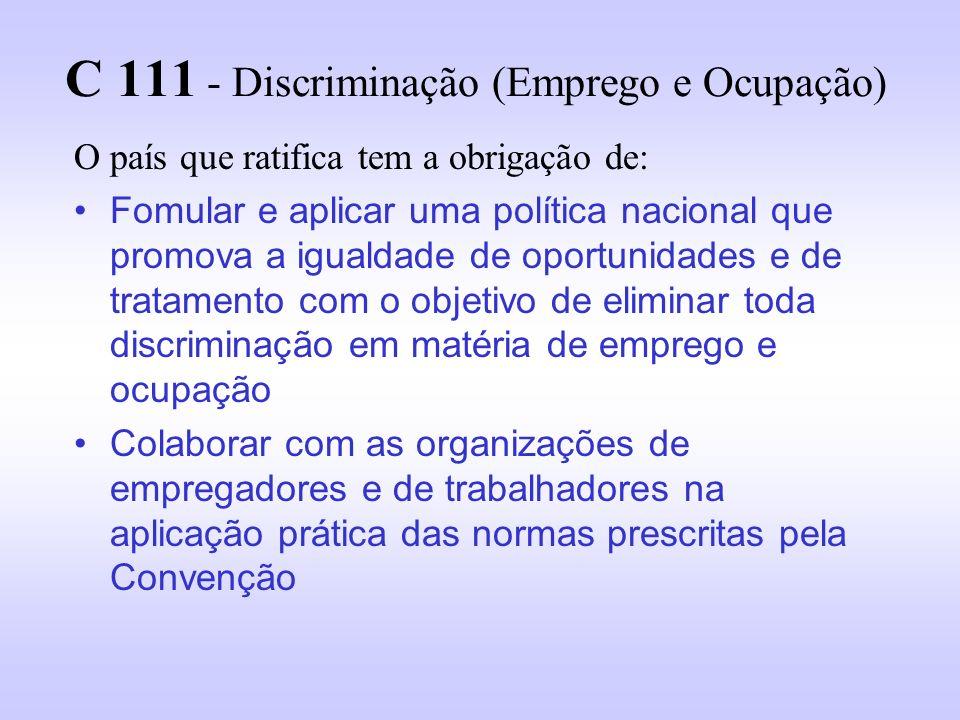 C 111 - Discriminação (Emprego e Ocupação)