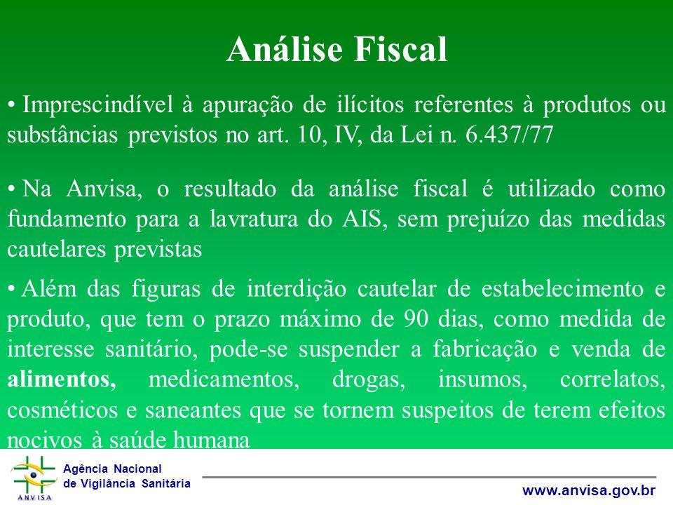 Análise Fiscal Imprescindível à apuração de ilícitos referentes à produtos ou substâncias previstos no art. 10, IV, da Lei n. 6.437/77.