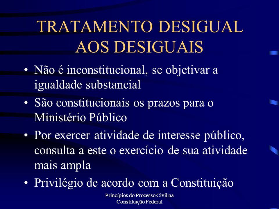 TRATAMENTO DESIGUAL AOS DESIGUAIS