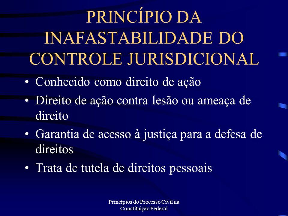 PRINCÍPIO DA INAFASTABILIDADE DO CONTROLE JURISDICIONAL
