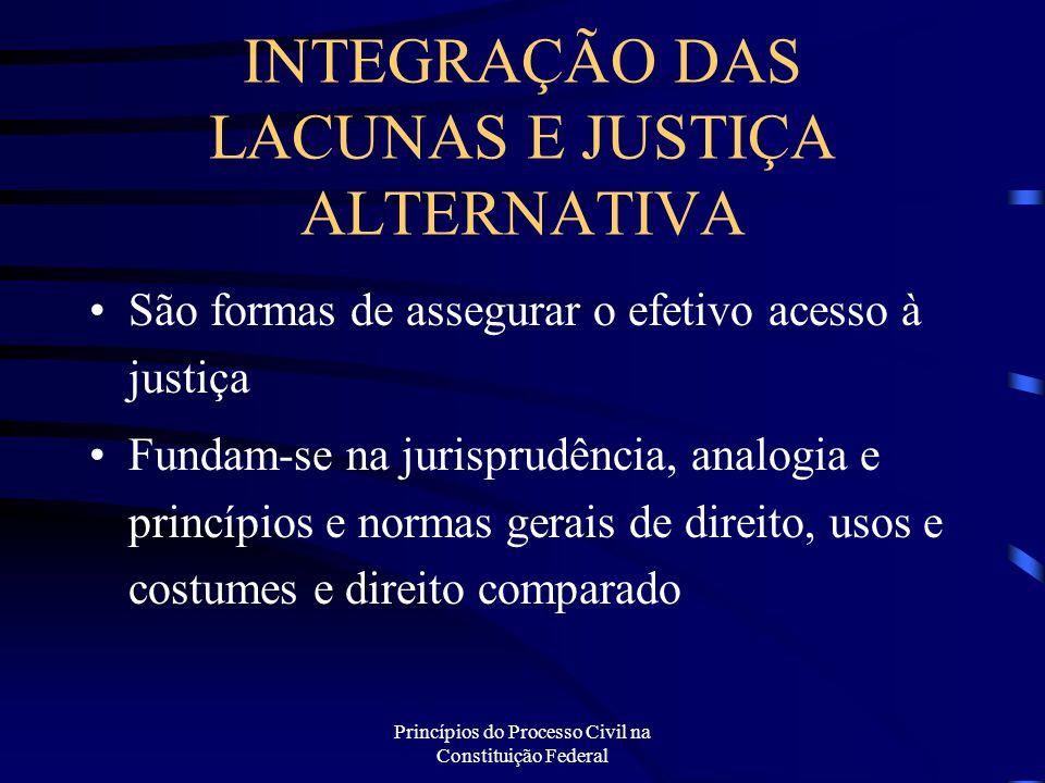 INTEGRAÇÃO DAS LACUNAS E JUSTIÇA ALTERNATIVA