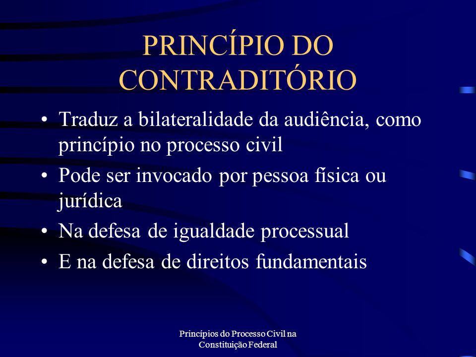 PRINCÍPIO DO CONTRADITÓRIO