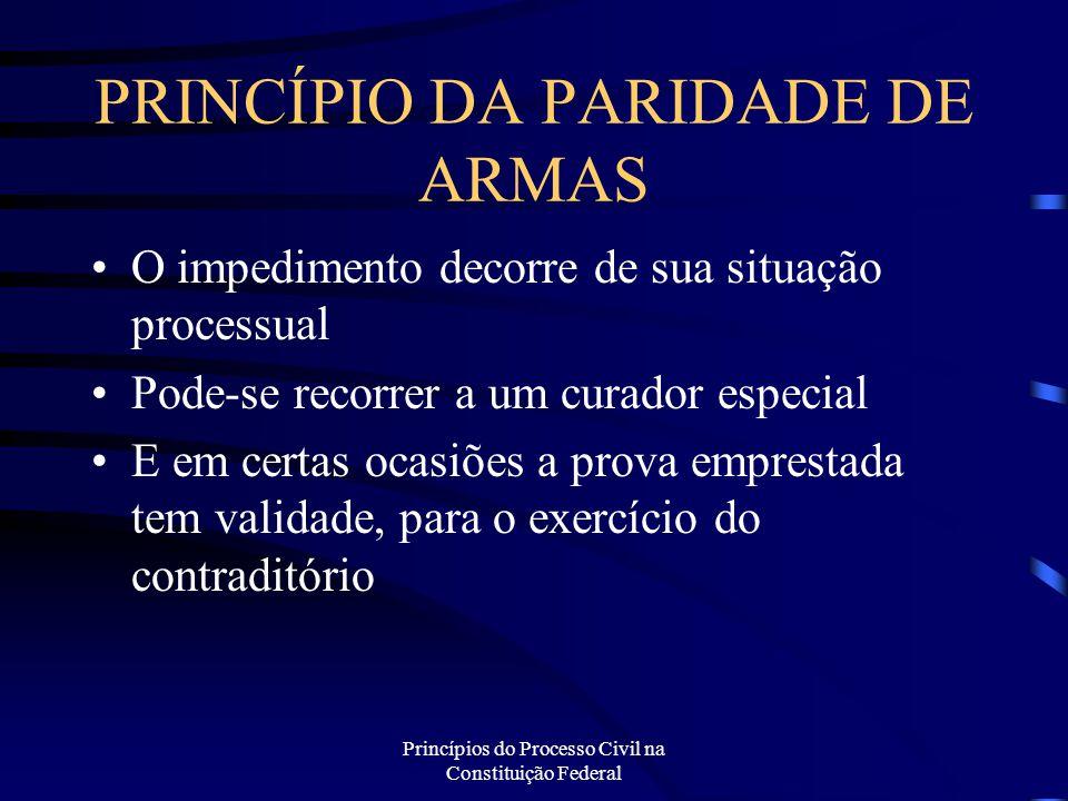 PRINCÍPIO DA PARIDADE DE ARMAS