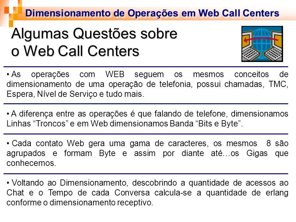 Algumas Questões sobre o Web Call Centers