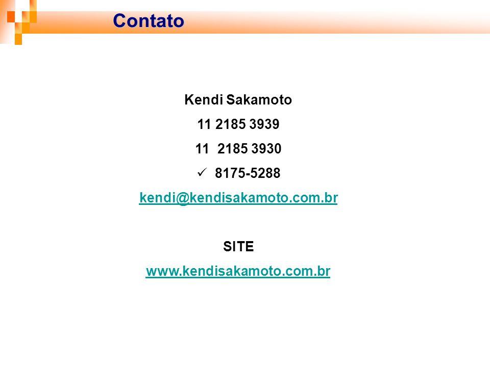 Contato Kendi Sakamoto 11 2185 3939 11 2185 3930 8175-5288