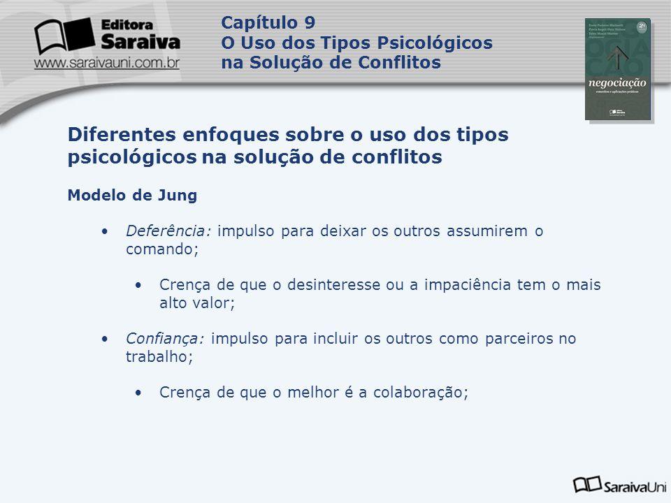 Capítulo 9 O Uso dos Tipos Psicológicos na Solução de Conflitos. Capa. da Obra.