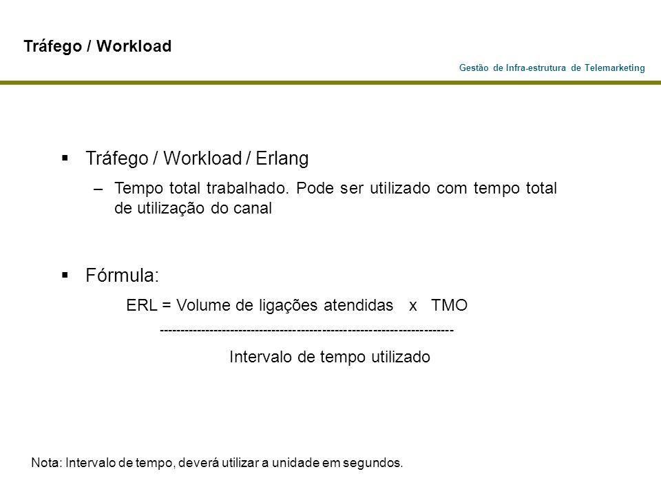 Tráfego / Workload / Erlang